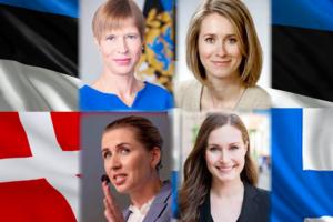 Kersti Kaljulaid, Kaja Kallas, Mette Frederiksen, Sanna Marin